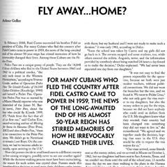 Magazine Writing: Pedro Pan Article