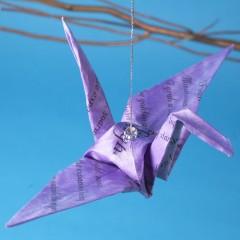 Poetry Takes Flight Crane Purple