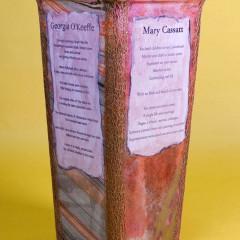 Poetry-Takes-Flight-Vase-Artist-O'Keeffe-Cassatt