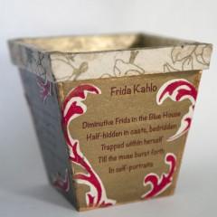 Poetry Takes Flight Vase Frida Kahlo